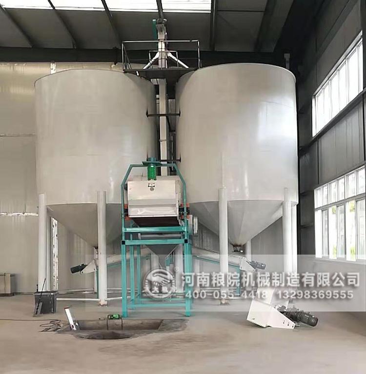 四川广元50吨玉米加工设备生产线现场图
